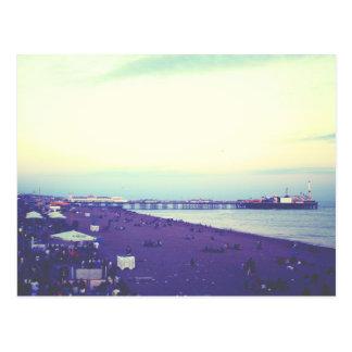 Brighton beach and pier, UK Postcard