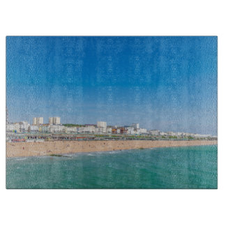 Brighton beach glass cutting board