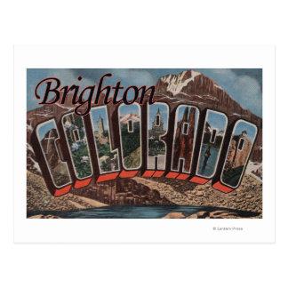 Brighton, Colorado - Large Letter Scenes Postcard