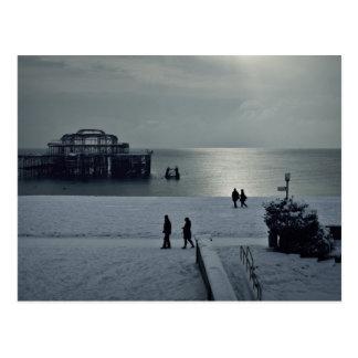 Brighton old pier postcard