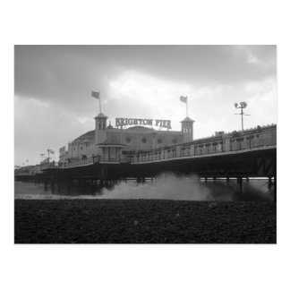 Brighton Palace Pier during a storm Postcard