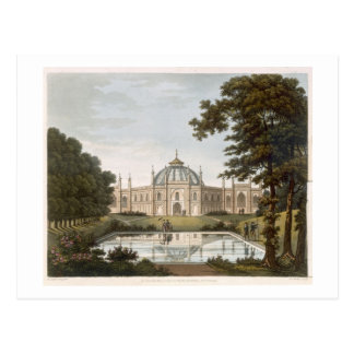 Brighton Pavilion: Proposed view of the garden wit Postcard