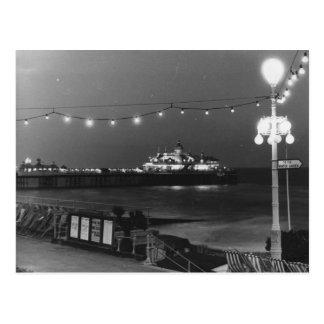 Brighton Pier At Night Postcard
