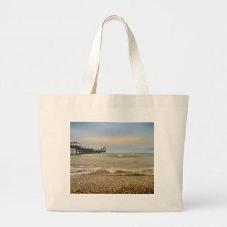 Brighton pier large tote bag