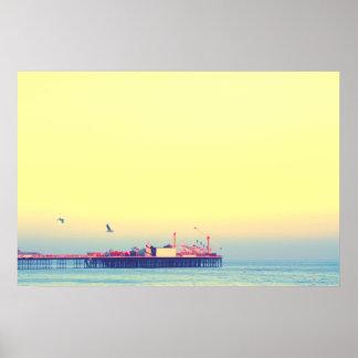 Brighton pier, UK Poster