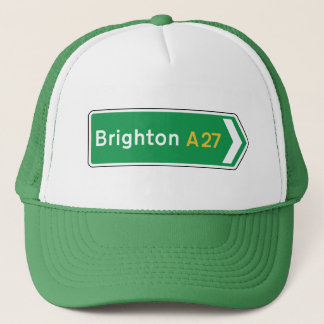 Brighton, UK Road Sign Trucker Hat