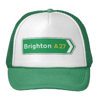 Brighton, UK Road Sign Trucker Hat