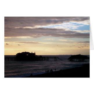 Brighton West Pier Card