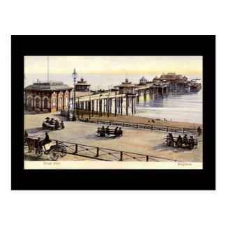 Brighton, West Pier, Old Postcard