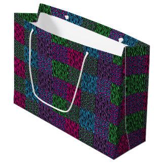 Brights Animal Print Lg Gift Bag