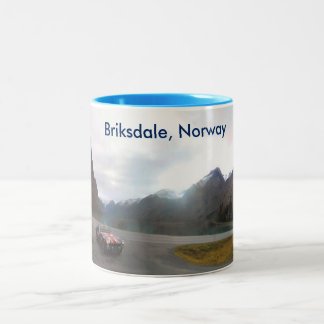Briksdale Norway Glacier Two-Tone Coffee Mug