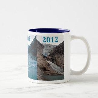 Briksdalebreen Norway Glacier Two-Tone Coffee Mug