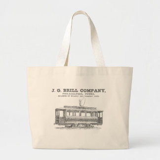 Brill Company Streetcars and Tramway Cars 1860 Canvas Bags
