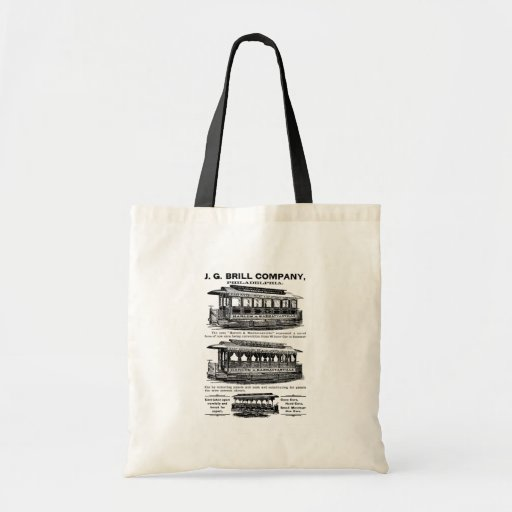 Brill Company Streetcars and Trolleys Canvas Bags
