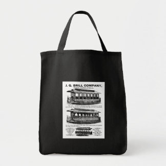 Brill Company Streetcars and Trolleys Grocery Tote Bag
