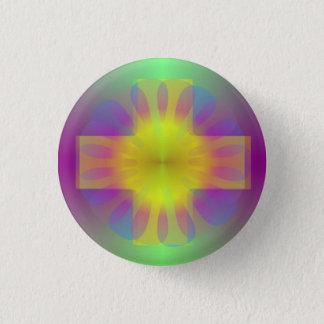 Brilliance Cross 1 Inch Round Button