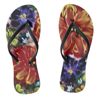 Brilliance in Bloom Flip Flops
