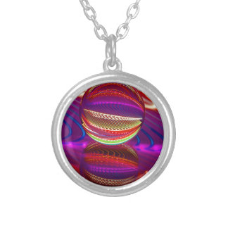 Brilliance in the crystal ball silver plated necklace