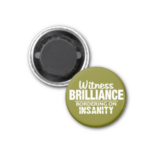 BRILLIANCE VS INSANITY custom magnet