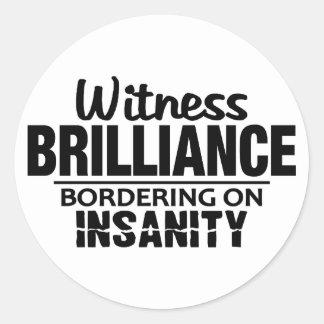 BRILLIANCE VS INSANITY custom stickers