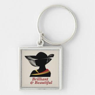Brilliant and Beautiful Woman Keychain