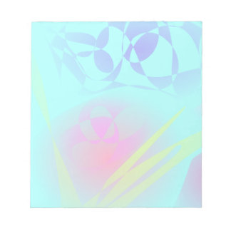 Brilliant Aqua Blue Abstract Pattern Note Pads