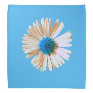 Brilliant blue and white daisy bandana