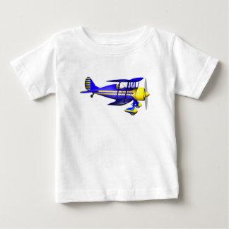 Brilliant Blue Biplane Baby T-Shirt