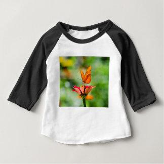Brilliant Butterfly on Bright Orange Gerber Daisy Baby T-Shirt
