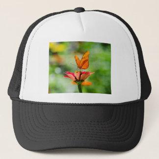 Brilliant Butterfly on Bright Orange Gerber Daisy Trucker Hat