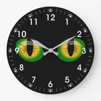 Brilliant Cats Eyes Paw Prints Clocks