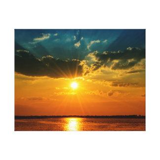 Brilliant Coastal Sunset Canvas Print
