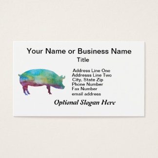 Brilliant Color-washed Pigs Business Card
