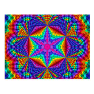 Brilliant Colored Ribbon Kaleidoscopic Design Postcard