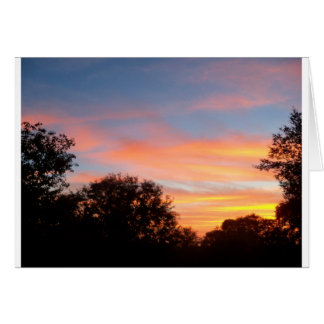 brilliant colored Sunset Oct sky Card