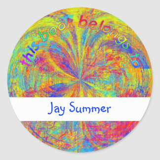 Brilliant Colors Abstract Classic Round Sticker