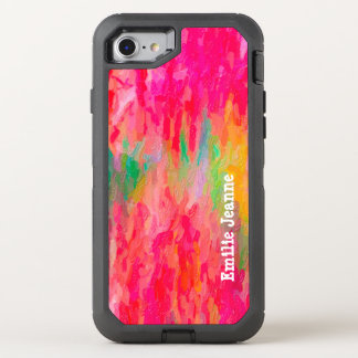 Brilliant Colors Heavy Paint Strokes Style OtterBox Defender iPhone 8/7 Case