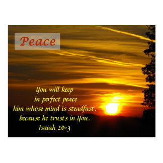 Brilliant Glow - Peace Postcard
