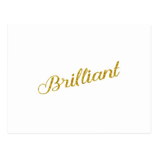 Brilliant Gold Faux Glitter Metallic Sequins Postcard