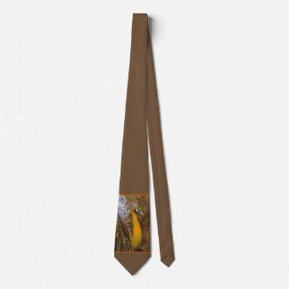 Brilliant Gold Peacock Wedding Tie