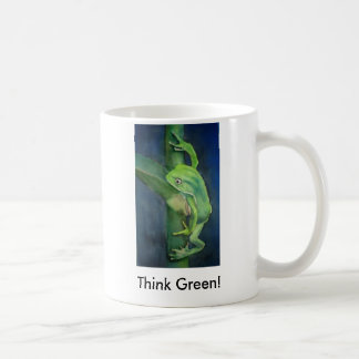 Brilliant Green Frog  Think Green! Coffee Mug