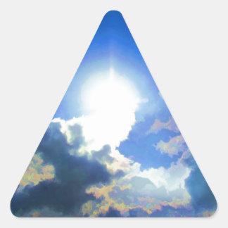 Brilliant Heavens Triangle Sticker