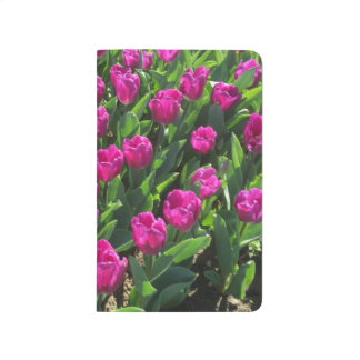 Brilliant Hot Pink Tulips Personalized Journals
