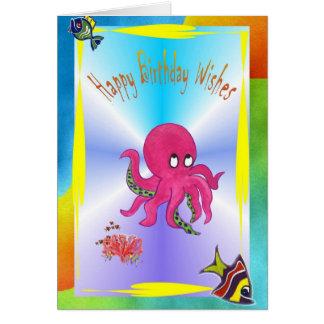 Brilliant Octopus Happy Birthday Card