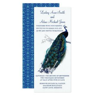 Brilliant Peacock Wedding Invitation