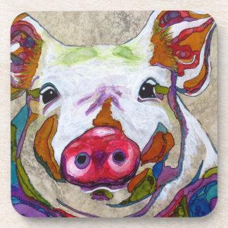 Brilliant Piggy Drink Coasters