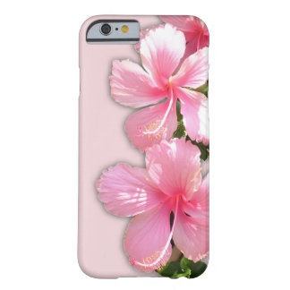 Brilliant Pink Hibiscus Flowers Barely There iPhone 6 Case