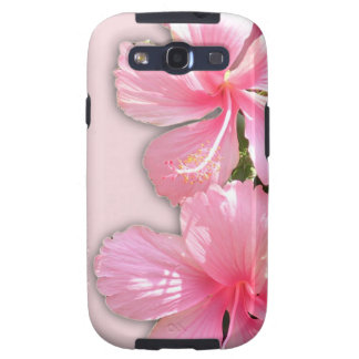 Brilliant Pink Hibiscus Flowers Galaxy S3 Covers