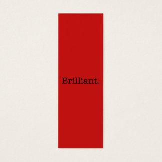 Brilliant Quote Poppy Red Trend Color Template Mini Business Card