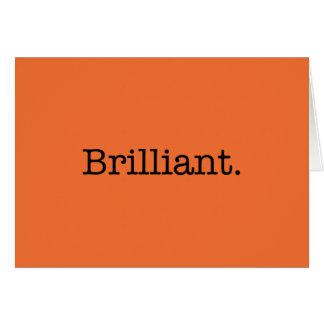Brilliant Quote Tangerine Orange Trend Color Card